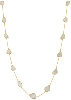 Tresor Collection Organic White Diamonds Slice Necklace In 18K Yellow Gold