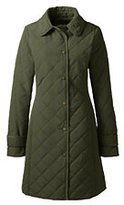 Lands' End Women's Petite PrimaLoft Coat-Smokey Olive