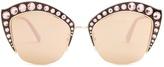 Gucci Cat-eye embellished metal sunglasses