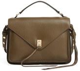 Rebecca Minkoff 'Small Darren' Leather Messenger Bag - Green