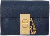 Chloé Navy Mini Drew Wallet