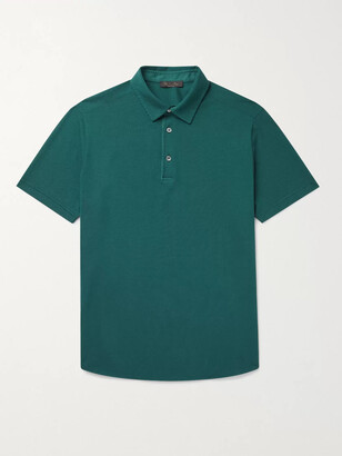 Loro Piana Cotton-Pique Polo Shirt - Men - Blue