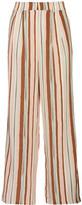Raoul Boyfriend Striped Silk Crepe De Chine Wide-Leg Pants