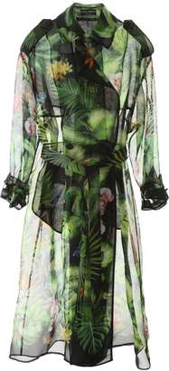 Dolce & Gabbana Jungle Forest Print Trench Coat
