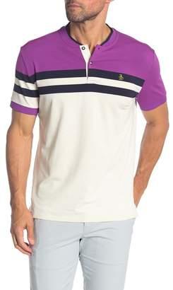 Original Penguin Short Sleeve Stripe Polo Shirt