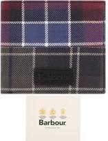 Barbour Mixed Tartan Logo Wallet Purple