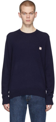 Acne Studios Navy Face Sweater