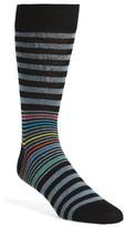 Bugatchi Men's Donegal Stripe Socks