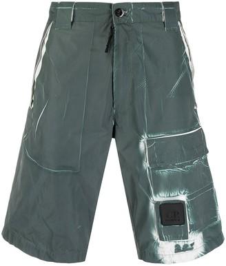 C.P. Company Distressed Cargo Shorts