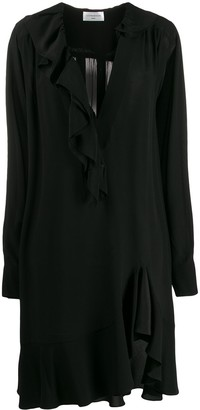 Victoria Beckham ruffled short shift dress
