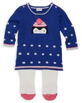 Absorba Baby's Two-Piece Penguin Dress and Tights Set