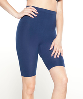 Navy High-Waist Bermuda Shaper Shorts - Plus Too