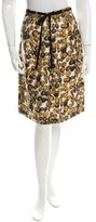 Piazza Sempione Abstract Print Knee-Length Skirt