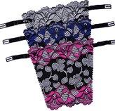 Flyou 3pcs Lady Lace Mock Camisole Clip-on Snappy Bra Insert Overlay Modesty Panel