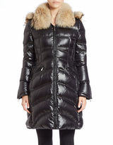 Dawn Levy Convertible Coyote Fur-Trimmed Puffer Coat