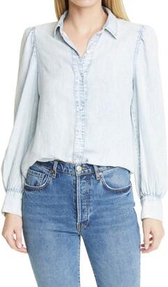 Rails Angelica Blouson Sleeve Chambray Shirt