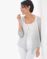 Chico's Cori Shimmer-Stripe Cardigan