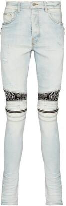 Amiri MX2 bandana-patch skinny jeans