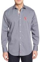 Thomas Dean Men's 'Oklahoma Sooners' Regular Fit Long Sleeve Sport Shirt