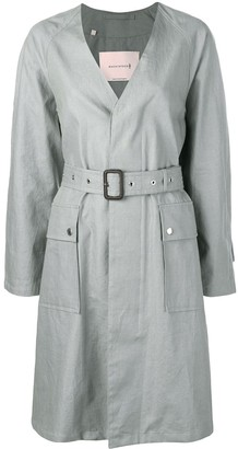 MACKINTOSH Slate Linen V-Neck Coat LM-096B
