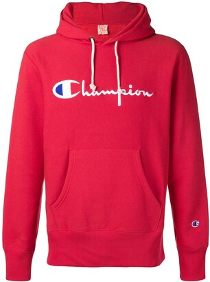 Champion Logo Embroidered Long Sleeve Hoodie