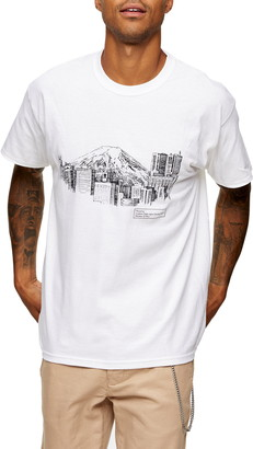 Topman Town Sketch Graphic Tee