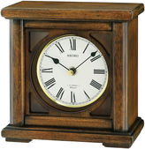 Seiko Brown Desk/Table Clock With 12 Hi-Fi Melodies And Chime Qxw237blh