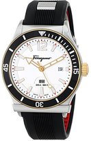 Salvatore Ferragamo Men's FF3110014 1898 SPORT Analog DisplaySwiss Quartz Black Watch