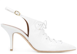 Malone Souliers Alessandra 70mm lace-up pumps