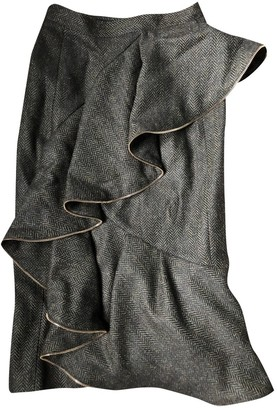 Burberry Anthracite Wool Skirt for Women