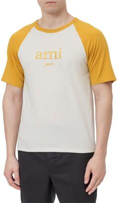 Ami Logo Embroidered Crewneck T-Shirt