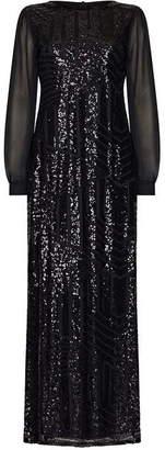 Yumi Sequin Panel Maxi Dress