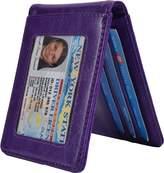 Yuhan Pretty Slim Mini Bifold Wallet Men Leather Front Pocket Money Clip Wallet