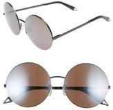 Victoria Beckham Women's 56Mm Round Sunglasses - Black/ Mirror