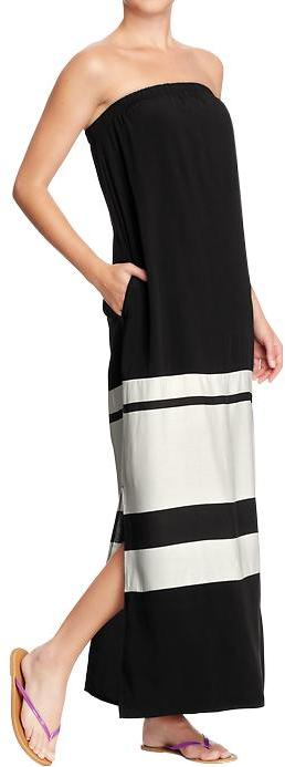 Old Navy Women's Color-Blocked Tube Maxi Dresses
