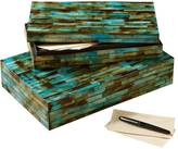 Twos Company Set of 2 Verdigris Covered Boxes