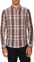 Vince Men's Linen Single Pocket Button-Down Sportshirt