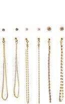 Charlotte Russe Chainlink Drop & Stud Earrings - 6 Pack