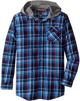 Tommy Hilfiger Yates Long Sleeve Hooded Shirt (Big Kids)