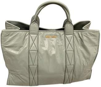 Miu Miu Green Patent leather Handbags