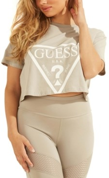 GUESS Cropped Logo Cotton T-Shirt
