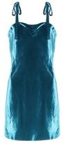 Attico Sabrina velvet mini dress