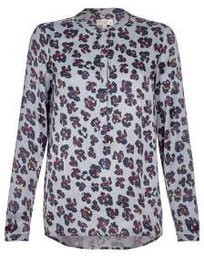 Nooki Design - Grey Leopard Diana Blouse - S - Grey