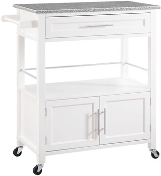 Linon Cameron White Kitchen Cart