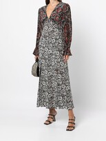 Thumbnail for your product : Rixo Paisley Floral Silk Dress