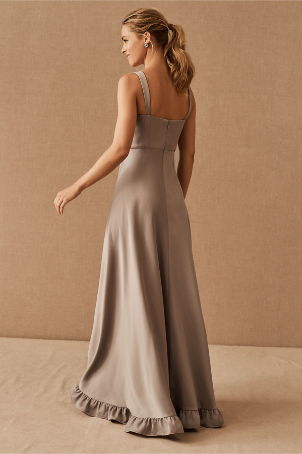 Thumbnail for your product : BHLDN Tara Satin Ruffle Dress