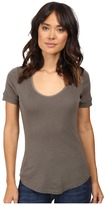 Splendid 1X1 Scoop Neck Tee