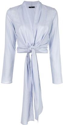 Voz long-sleeve wrap blouse