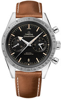 Omega Speedmaster '57 men' stainless steel brown strap watch