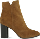Maje Foly suede heeled ankle boots
